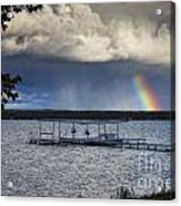 Rainbow At Burt Lake Acrylic Print