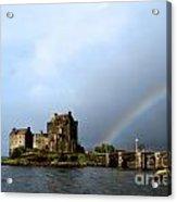 Rainbow At Eilean Donan Acrylic Print