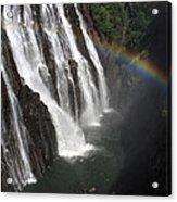 Rainbow At Victoria Falls Acrylic Print