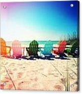 Rainbow Beach Photography Light Leaks1 Acrylic Print