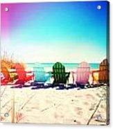 Rainbow Beach Photography Light Leaks2 Acrylic Print
