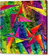 Rainbow Bliss - Pin Wheels - Painterly - Abstract - H Acrylic Print