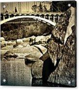 Rainbow Bridge In Folsom Ca Acrylic Print