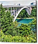 Rainbow Bridge View Acrylic Print