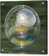 Sun Halo Rainbow Bubble Acrylic Print