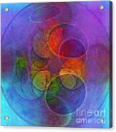 Rainbow Bubbles Acrylic Print by Klara Acel