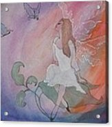 Rainbow Butterfly Fairy Acrylic Print