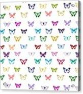 Rainbow Butterfly Pattern Acrylic Print