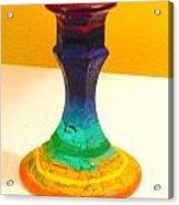 Rainbow Candlestick Acrylic Print