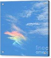Rainbow Cloud Acrylic Print