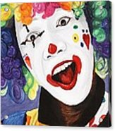 Rainbow Clown Acrylic Print