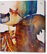 Rainbow Cowboy Acrylic Print