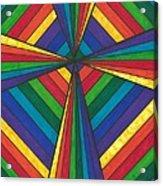 Rainbow Cross Acrylic Print