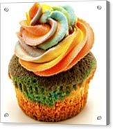 Rainbow Cupcake  Acrylic Print