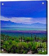 Rainbow Desert Landscape Acrylic Print