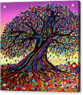 Rainbow Dreams And Falling Leaves Acrylic Print