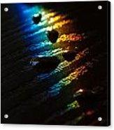 Rainbow Drops Acrylic Print