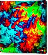 Rainbow Dye Acrylic Print