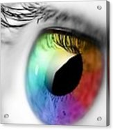 Rainbow Eye Acrylic Print