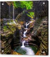 Rainbow Falls Of Watkins Glen Acrylic Print