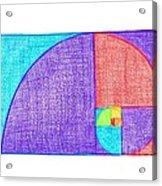 Rainbow Fibonacci Spiral Acrylic Print