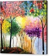 Rainbow Forest Acrylic Print by Shilpi Singh