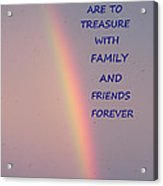 Rainbow Happiness Acrylic Print