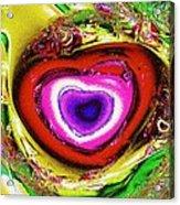 Rainbow Heart Acrylic Print
