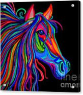 Rainbow Horse Head Acrylic Print