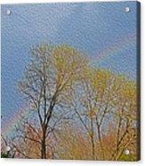 Rainbow In Spring Acrylic Print