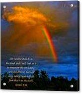 Rainbow In The Cloud Acrylic Print