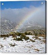 Rainbow In The Mountain Acrylic Print