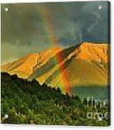 Rainbow In The Mountains Acrylic Print