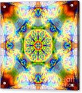 Rainbow Light Mandala Acrylic Print