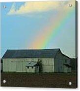 Rainbow On The Farm Acrylic Print
