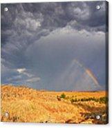 Rainbow On The Plains Acrylic Print
