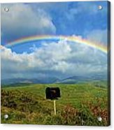 Rainbow Over A Mailbox Acrylic Print by Kicka Witte