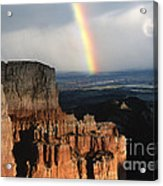 Rainbow Over  Bryce Canyon Acrylic Print