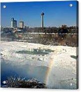Rainbow Over Canada Acrylic Print