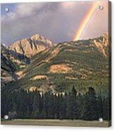 Rainbow Over Colin Range Jasper Np Acrylic Print