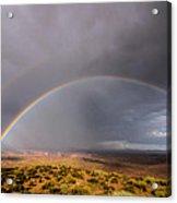 Rainbow Over Desert Acrylic Print