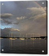 Rainbow Over Essex Acrylic Print