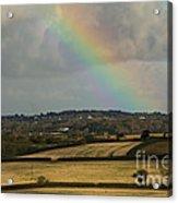 Rainbow Over Fields Acrylic Print