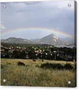 Rainbow Over Lake Estes Acrylic Print