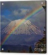 Rainbow Over Mount St. Helens  Acrylic Print
