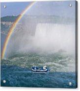 Rainbow Over Niagara. Acrylic Print
