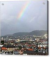 Rainbow Over Oslo Acrylic Print