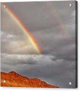 Rainbow Over Rocks Acrylic Print