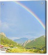 Rainbow Over Rollinsville Acrylic Print