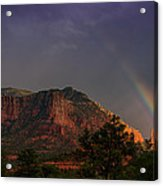 Rainbow Over Sedona  Acrylic Print